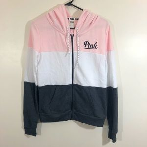 PINK Victoria's Secret Color Block Hoodie Small